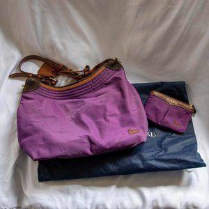 Dooney Bourke Purple Nylon Shoulder Bag w/ Wallet